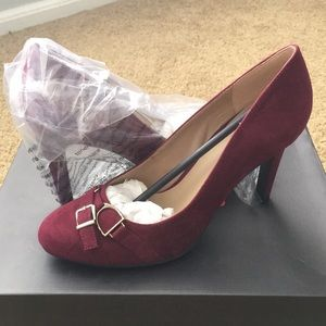 JustFab Adelia High Heels in burgundy sz 7.5
